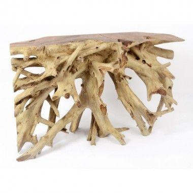 Console racine bois flotté 150 cm NATURE