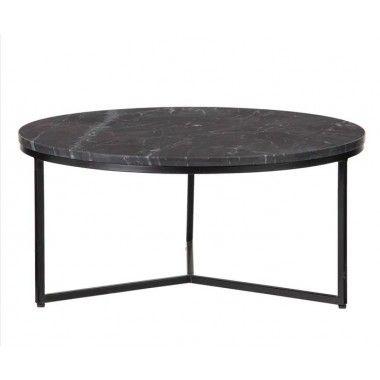 Table basse marbre/métal 70 cm MARBRO