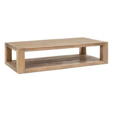 Table basse rectangulaire bois d'orme 184cm BRUTA