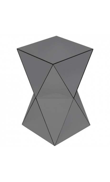 Table d'appoint triangle gris LUXURY