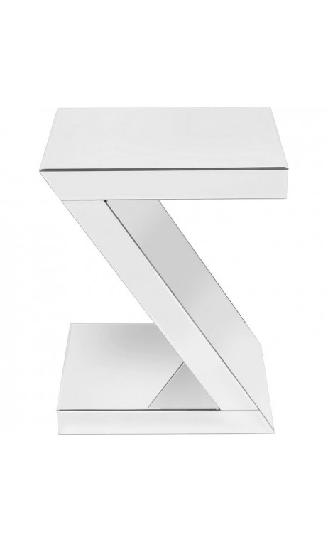 Table d'appoint design Z blanche SIDNEY