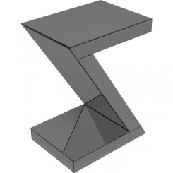 Table d'appoint design Z grise SIDNEY