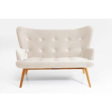 Sofa tissu rose/écru VICKY