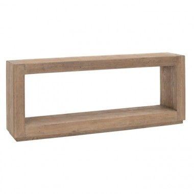 Console rectangulaire bois d'orme 183cm BRUTA