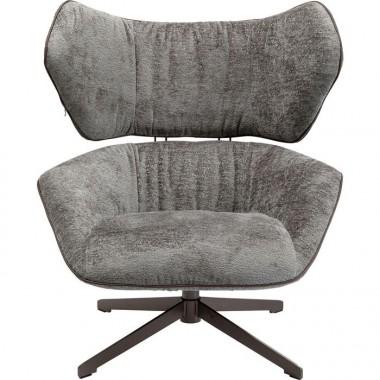 Chaise de bureau pivotante tissu gris OVAL