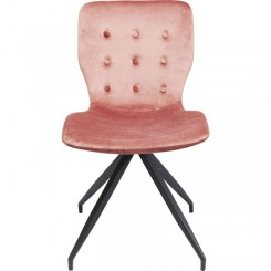 Chaise tissu velours rose BUTTERFLY