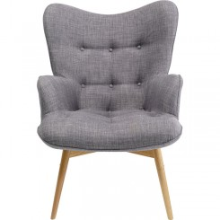 Fauteuil tissu gris VICKY