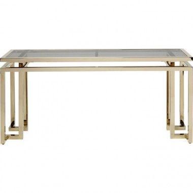 Console verre acier inoxydable gold 160cm RUSH
