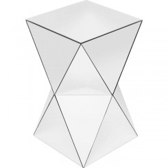 Table d'appoint triangle blanc LUXURY