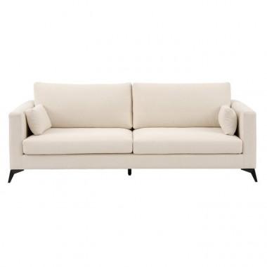 Canapé 4 places étoffe beige 245 cm LINO