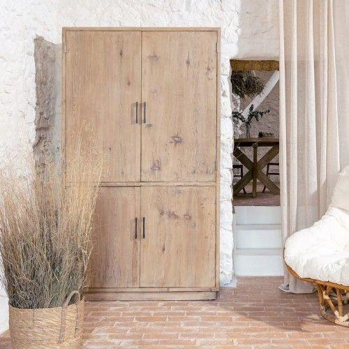 Armoire bois d'orme 4 portes TERRA