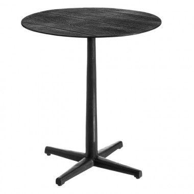 Table d'appoint aluminium vieux noir ENETOCA