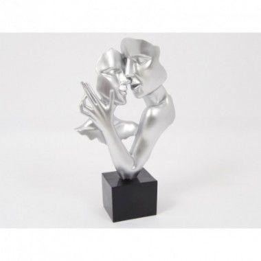 Statue double visage danse argenté 50 cm CONSTANTIN