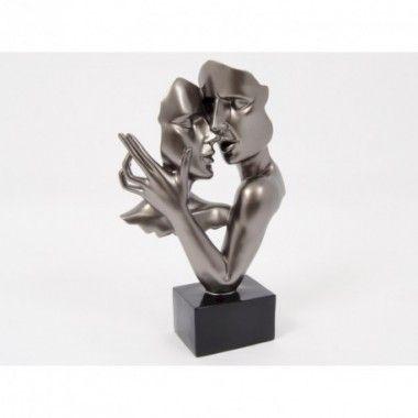Statue double visage danse grise 38 cm CONSTANTIN