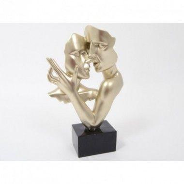 Statue double visage danse or 38 cm CONSTANTIN