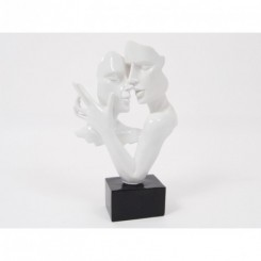 Statue double visage danse blanc 38 cm CONSTANTIN