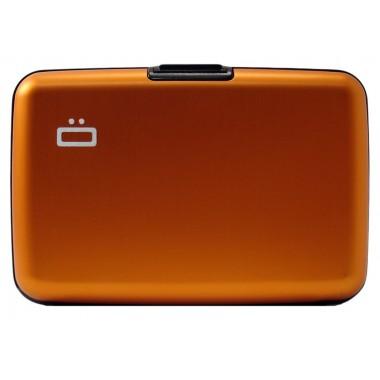 Porte cartes en aluminium Ogon designs orange