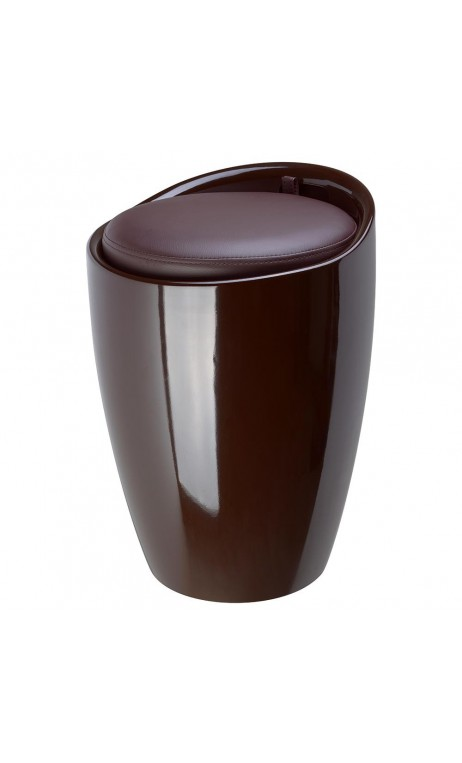 achetez votre tabouret pouf pop marron chocolat pas cher sur loft. Black Bedroom Furniture Sets. Home Design Ideas