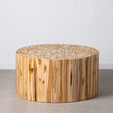 Table basse ronde en rondin de bois 90 cm SUZUKO