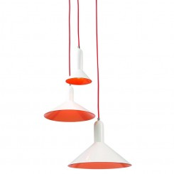 SUSPENSION APOLLO BLANC ET ROUGE