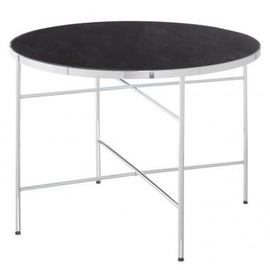 Table basse ronde verre trempé et acier 60cm RANIA