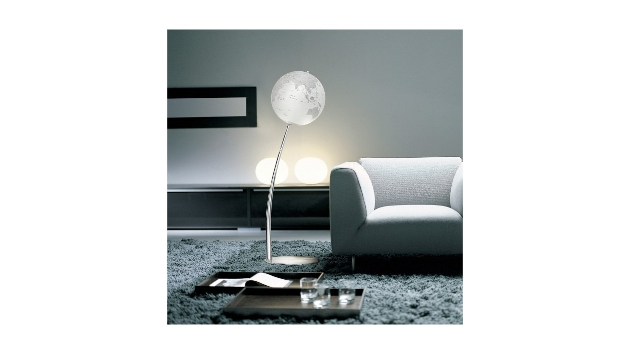 achetez votre lampadaire globe terrestre design sur pied 110cm pas. Black Bedroom Furniture Sets. Home Design Ideas