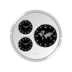 HORLOGE BIG TIC WORLD TIME TROIS CADRANS KARLSSON