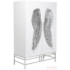 ARMOIRE BLANCHE AILES D'ANGE ARGENT SHOWTIME WINGS KARE DESIGN