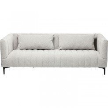 Canapé design italien tissu gris 3 places VERSUS