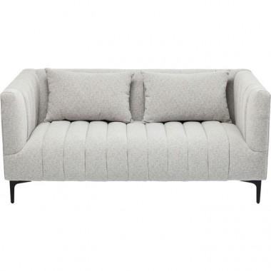 Canapé design italien tissu gris 2 places VERSUS