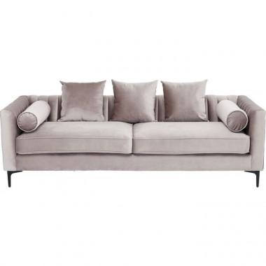 Canapé tissu gris 3 places 221cm RODRIGUE
