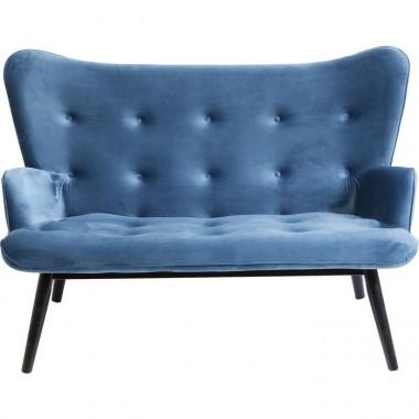 Sofa tissu velours bleu VICKY