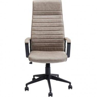 Chaise de bureau beige haut dossier LABORA