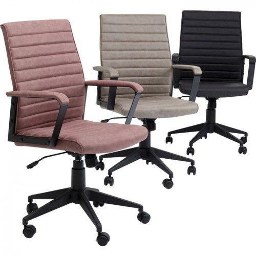 Chaise de bureau effet cuir noir LABORA