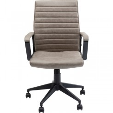 Chaise de bureau effet cuir beige LABORA