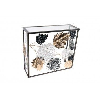 Console feuillage d'automne mouvement 3D noir or blanc SEASON