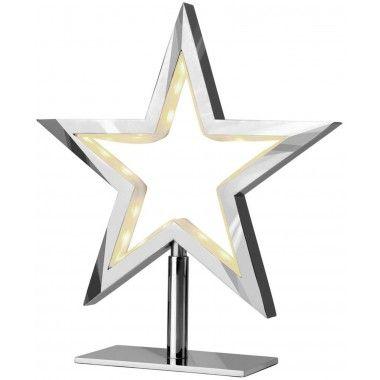Lampe étoile chromée LUCY-S
