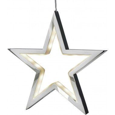 Suspension étoile chrome LED 34 LUCY