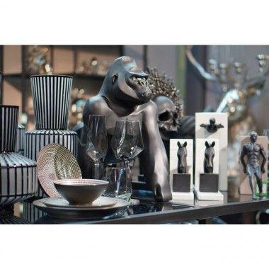 Gorille décoratif noir mat 57 cm Gorilla