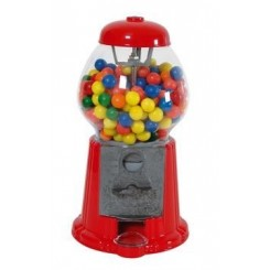 Distributeur de chewing gum rouge 28 cm