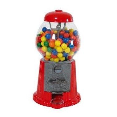 Distributeur de chewing gum rouge 28cm