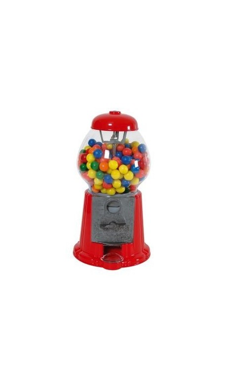 Distributeur de chewing gum rouge 28cm