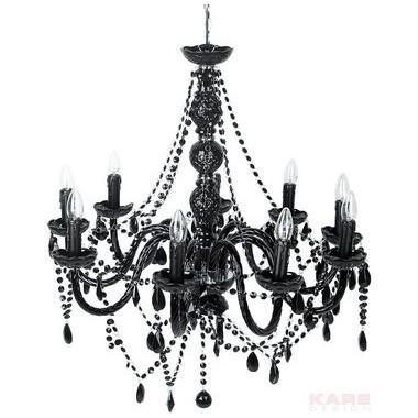 Lustre Gioiello cristal 9 branches Noir