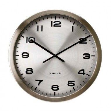Horloge Karlsson maxie métal poli alu 50cm