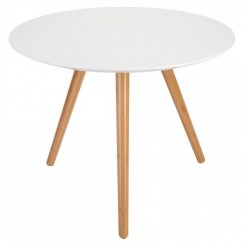 Table d'appoint OAKY blanche