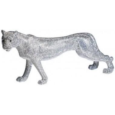 Déco Figurine Léopard Strass 29 cm