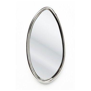 Miroir oval Drops alu 14x25