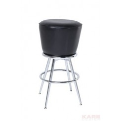 TABOURET DE BAR LOUNGE NOIR
