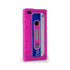 ETUI IPHONE 5 CASSETTE AUDIO ROSE