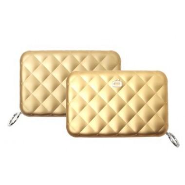 Porte cartes zippé aluminium Ogon Designs doré